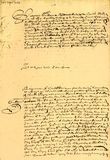 Het Contract van het huwelijk gedateerd 1656. Royalty-vrije Stock Afbeelding