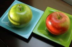 Het contrast van de appel Royalty-vrije Stock Afbeelding