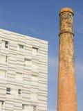Het contrast van de architectuur Stock Foto's