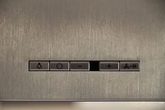 Het controlebord van de kooktoestelkap Royalty-vrije Stock Afbeeldingen