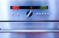 Het controlebord van de oven Stock Foto