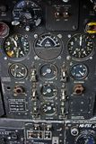 Het Controlebord van ingenieurs van de Vliegtuigen van de Bommenwerper Royalty-vrije Stock Fotografie