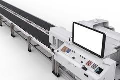 Het controlebordscherm met robotachtige wapens Stock Afbeelding
