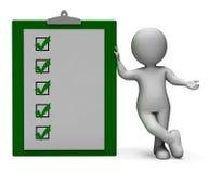 Het controlelijstklembord toont Test of Onderzoek Stock Afbeelding