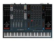 Het controlemechanisme van de muziek, mixer Stock Afbeeldingen