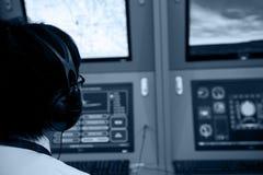 Het controlemechanisme van de vlucht Stock Afbeelding
