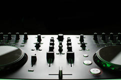 Het controlemechanisme van DJ Stock Foto's