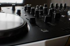 Het controlemechanisme van DJ Royalty-vrije Stock Foto's