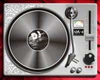 Het controlemechanisme van DJ pult of van DJ controleillustratie royalty-vrije illustratie