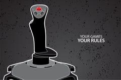 Het controlemechanisme van PC of van de console Royalty-vrije Stock Foto's