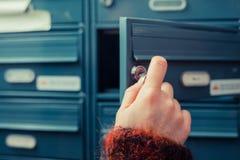 Het controleren post Stock Afbeelding