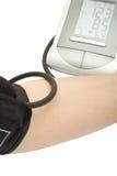 Het controleren van de bloeddruk Stock Foto