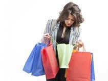 Het controleren van de het winkelen zakken Royalty-vrije Stock Afbeelding