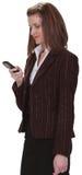 Het controleren van de mobiele telefoon Stock Foto's