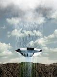 Het controleren van de regen Stock Fotografie