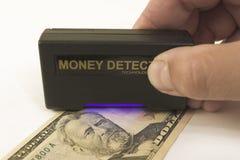 Het controleren van munt Royalty-vrije Stock Foto