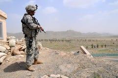 Het controleren van punt op de Afghaanse grens Royalty-vrije Stock Foto's
