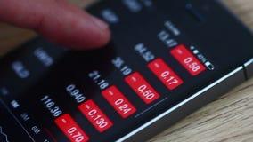 Het controleren van Voorraad stock video