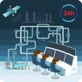 Het controlesysteem 24 uur Royalty-vrije Illustratie