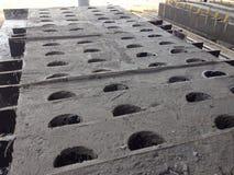 Het Contructionwerk concrete Ductbank Royalty-vrije Stock Foto