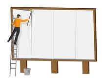 Het Copyspaceaanplakbord wijst Bevorderings op Teken en bevordert Stock Fotografie