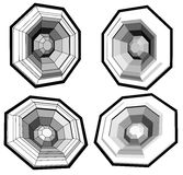 Het correcte woofer van de systeemspreker dat met veelhoeken wordt gemaakt Stock Fotografie
