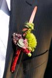 Het Corsage van de bruidegom Stock Foto's