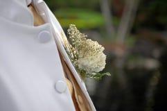 Het corsage van de bruidegom Stock Foto