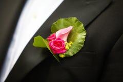 Het corsage van het huwelijk Stock Afbeeldingen