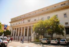 Het Cour d'appel Paleis de d'Aix-Engels-Provence van Rechtvaardigheid van aix-Engels-bewijst stock afbeeldingen