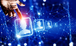 Het creëren van draadloze technologieën Gemengde media Gemengde media Stock Afbeeldingen