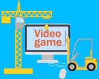 Het creëren van een videospelletje Stock Foto