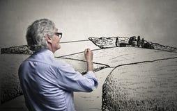Het creëren van landschappen Royalty-vrije Stock Fotografie