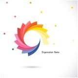 Het creatieve abstracte vectormalplaatje van het embleemontwerp Collectieve zaken Royalty-vrije Stock Afbeeldingen