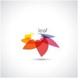Het creatieve abstracte vectormalplaatje van het embleemontwerp Natuurlijk teken Stock Fotografie
