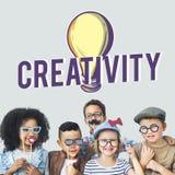 Het creatieve Concept van de de Verbeeldingsinnovatie van het Ideeënontwerp Stock Foto