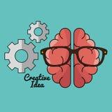 Het creatieve concept van het hersenenidee vector illustratie
