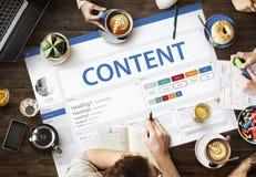 Het creatieve Concept van het het Ontwerpmalplaatje van de Steekproefwebsite Royalty-vrije Stock Afbeelding