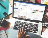 Het creatieve Concept van het het Ontwerpmalplaatje van de Steekproefwebsite Royalty-vrije Stock Fotografie