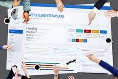 Het creatieve Concept van het het Ontwerpmalplaatje van de Steekproefwebsite Stock Afbeelding