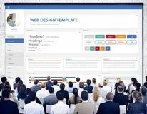Het creatieve Concept van het het Ontwerpmalplaatje van de Steekproefwebsite Stock Afbeeldingen