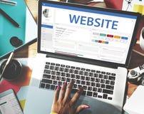 Het creatieve Concept van het het Ontwerpmalplaatje van de Steekproefwebsite Royalty-vrije Stock Afbeeldingen