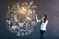 Het creatieve Concept van het Idee Royalty-vrije Stock Afbeeldingen