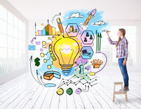 Het creatieve Concept van het Idee Royalty-vrije Stock Afbeelding