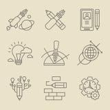 Het creatieve Concept van het Ontwerpproces Stock Foto