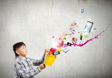 Het creatieve Denken Royalty-vrije Stock Afbeelding