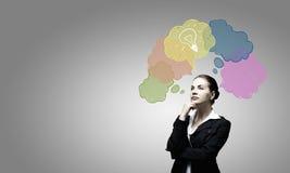 Het creatieve Denken Stock Foto