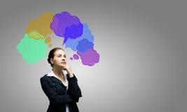Het creatieve Denken Royalty-vrije Stock Afbeeldingen