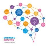 Het creatieve Denken - Bedrijfssucces Royalty-vrije Stock Afbeeldingen