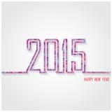 Het creatieve gelukkige nieuwe ontwerp van de jaar 2015 tekst Royalty-vrije Stock Afbeelding
